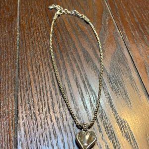 Brighton crystal heart necklace